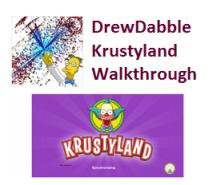 DrewDabble Krustyland Walkthough