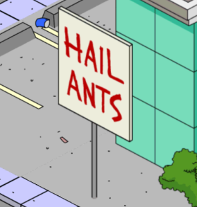 Hail Ant Sign