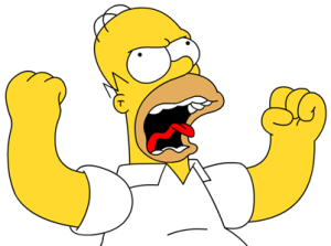 Frustrated Homer