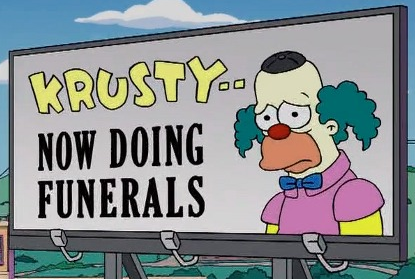 'Krusty - Now Doing Funerals-  Season 20 - DrewDabble